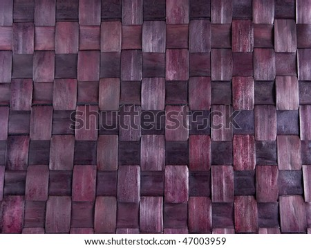 Abstract background texture of bamboo mat close-up
