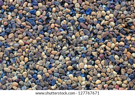 Abstract Background Texture Of Grungy Pebble Pool Paving Material