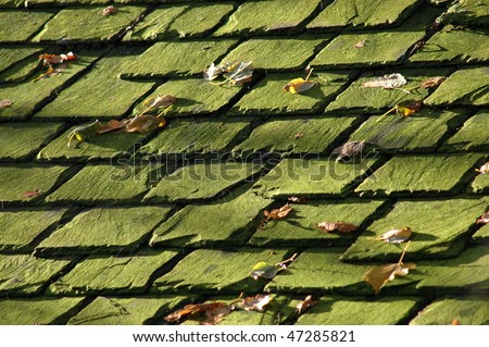 Abstract Background Texture of some old slate roof tiles