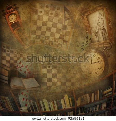 Abstract background to the novel Alice in Wonderland.