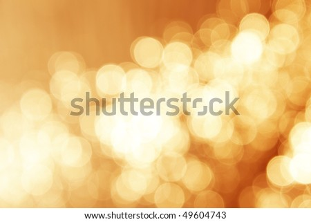 Abstract background, warm magic lights, bokeh. - stock photo