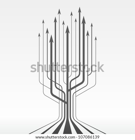 Abstract background whith arrows tree