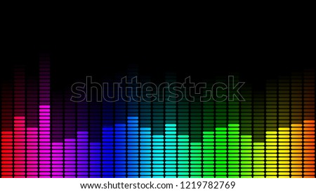 Abstract background with a disco lights, Graphic equalizer.