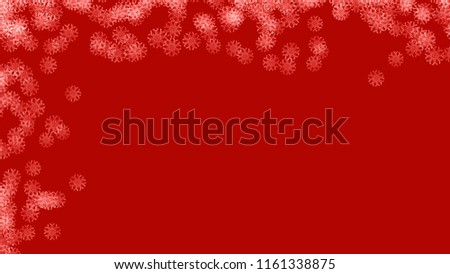 Abstract background with a variety of colorful snowflakes. Big and small. #1161338875