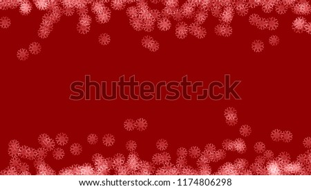 Abstract background with a variety of colorful snowflakes. Big and small. #1174806298