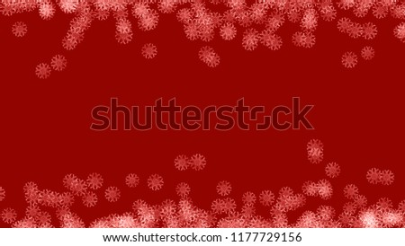 Abstract background with a variety of colorful snowflakes. Big and small. #1177729156