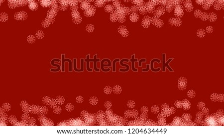 Abstract background with a variety of colorful snowflakes. Big and small. #1204634449