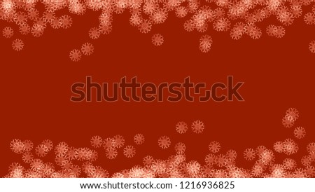 Abstract background with a variety of colorful snowflakes. Big and small. #1216936825