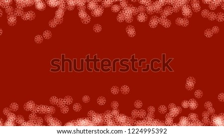 Abstract background with a variety of colorful snowflakes. Big and small. #1224995392