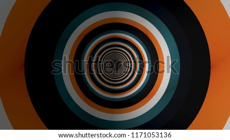Stock Photo Abstract background with animated hypnotic colorful tunnel. Abstract colored tunnel background