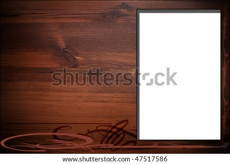 abstract background with billboard,wood texture