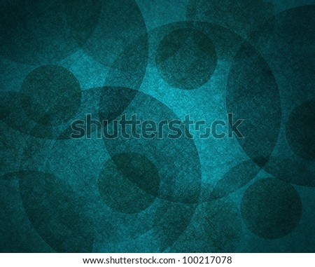 abstract background with black circle geometric shapes  on blue background wallpaper with vintage grunge texture look