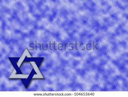 Abstract background with Blue and silver Star of David