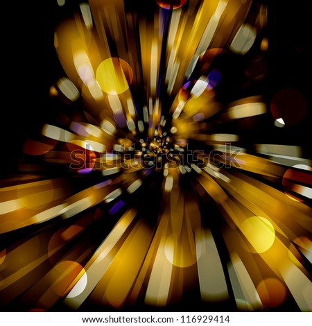 Abstract background with blurred defocused lights. For vector version, see my portfolio.