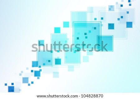 Abstract background with box of square