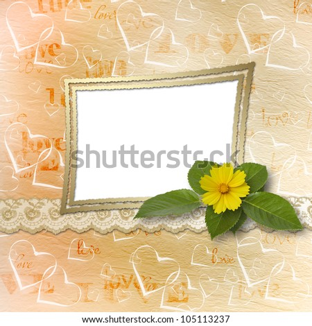 abstract background with bunch of flower for announcement or advertising
