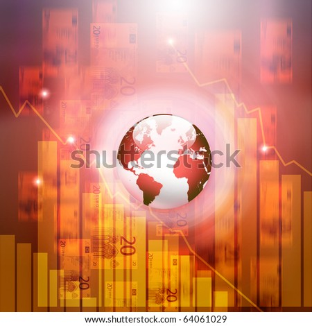 Abstract background with business elements. Symbol of a successful business - stock photo