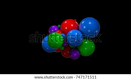 Stock Photo Abstract background with chaotic colorful spheres. 3d rendering