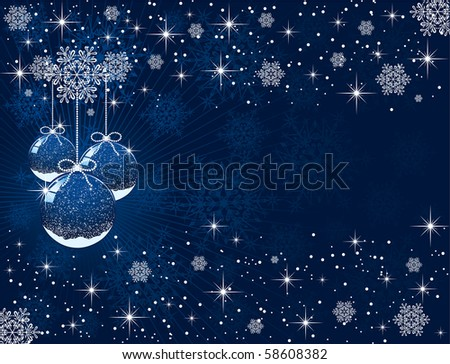 Abstract background with Christmas balls, illustration