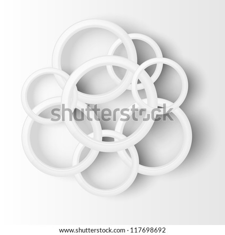 Abstract background with circles. Illustration.