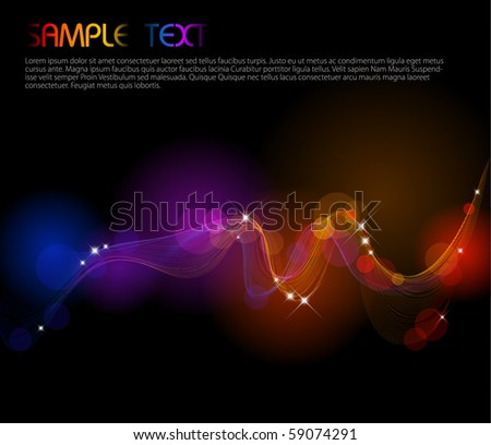 Abstract background with colorful lights on black
