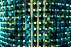 Abstract background with defocused lights. Gree, new mint color