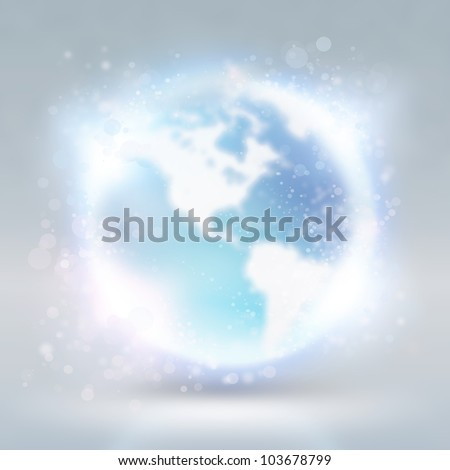 Abstract background with earth globe. Internet technology concept