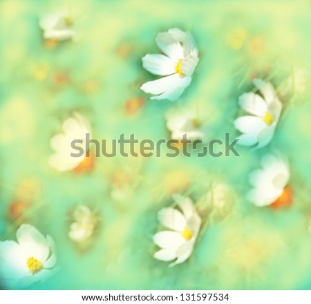 Abstract background with flowers in pastel colors