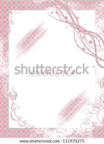 abstract background with frame frame spent