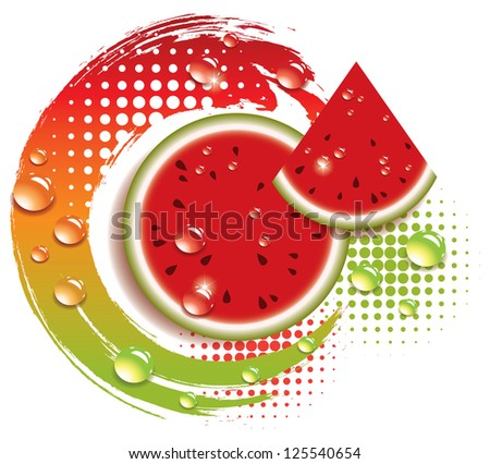 abstract background with fresh watermelon