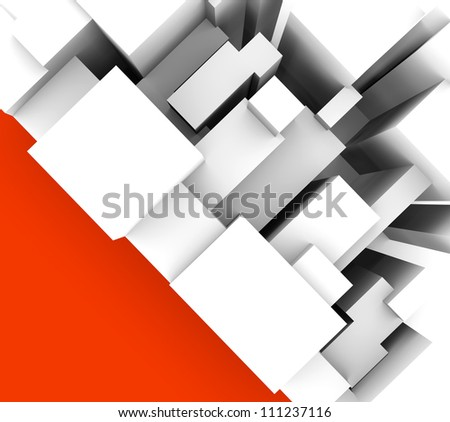 abstract background with geometric objects in vertical