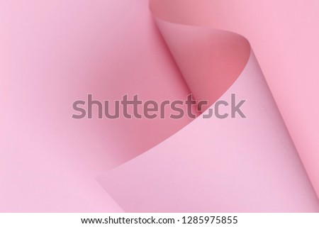 Abstract background with geometric shape pastel pink color paper #1285975855