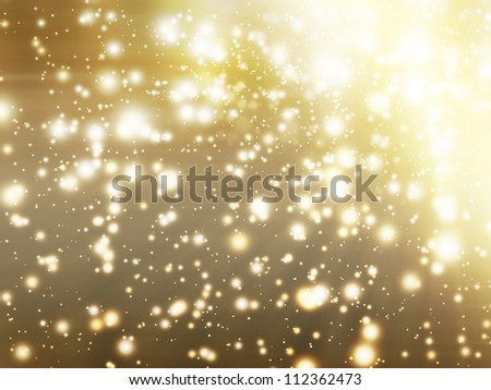 abstract background with golden glow
