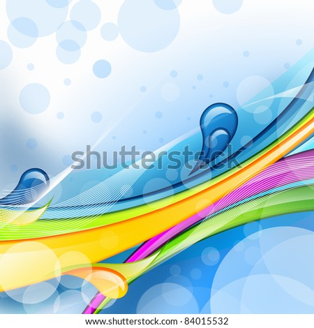 abstract background with green, pink, purple elements