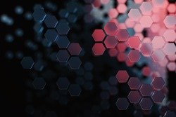 Abstract Background with hexagons. Hi-tech digital technology concept