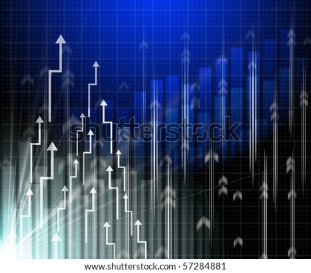 Abstract background with histogram and lines