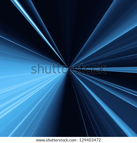 Abstract background with light lines concentric going into a point