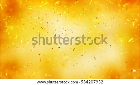 Stock Photo Abstract background with many falling tiny confetti pieces. Randomly flowing confetti backgound. Background for party, celebrate, carnival, birthday. Celebration background with blurred confetti.