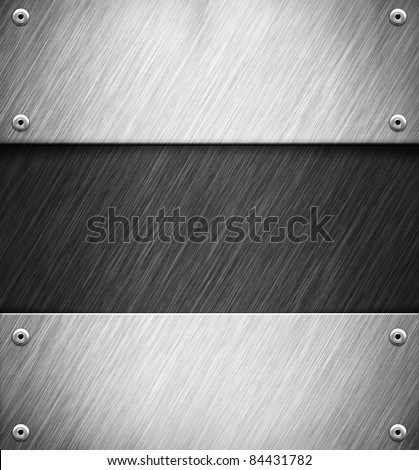 Abstract background with metal panel