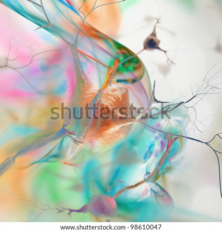 abstract background with neurons