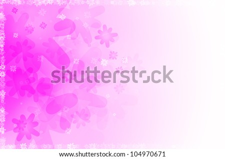 abstract background with pink floral
