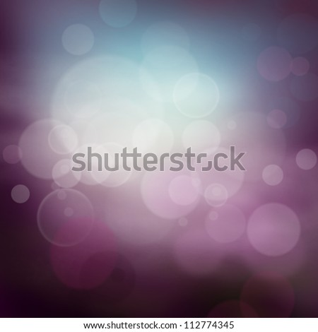 Abstract  background with purple colors and bokeh lights.