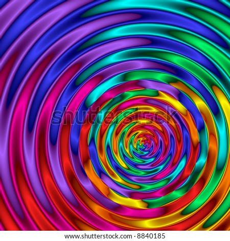 Abstract background with rainbow color ripples.