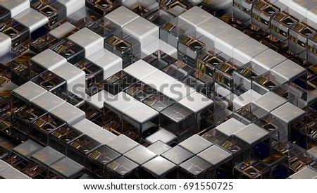 Stock Photo Abstract background with realistic cubes. 3d rendering