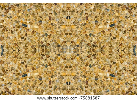 Abstract background with rounded pebble stones - stock photo