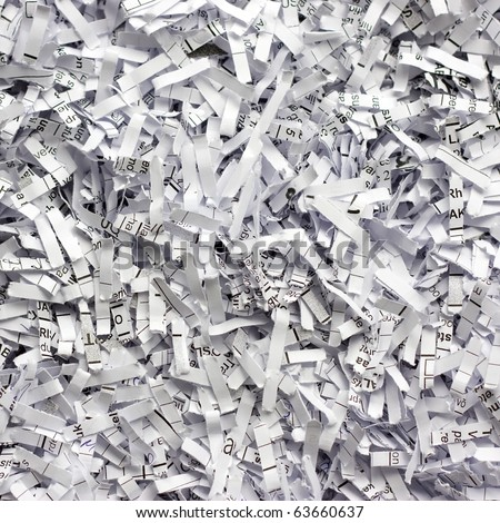 Abstract background with shredded  paper