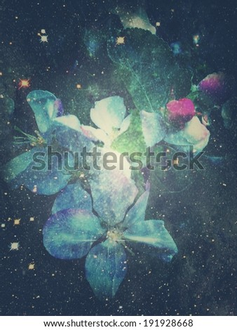 Abstract background with stars texture overlayed - Shutterstock ID 191928668