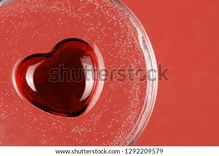 Abstract background with symbolic glass heart #1292209579
