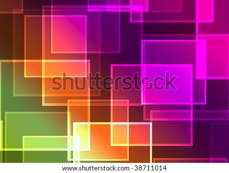 Abstract  background with transparent squares. Welcome! More similar images available.