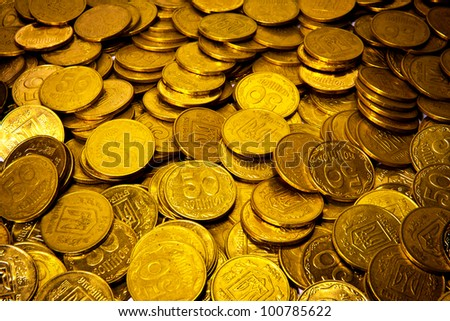 abstract background with Ukrainian coins